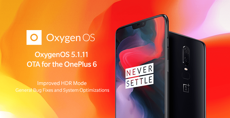 OxygenOS 5.1.11 OTA for the OnePlus 6